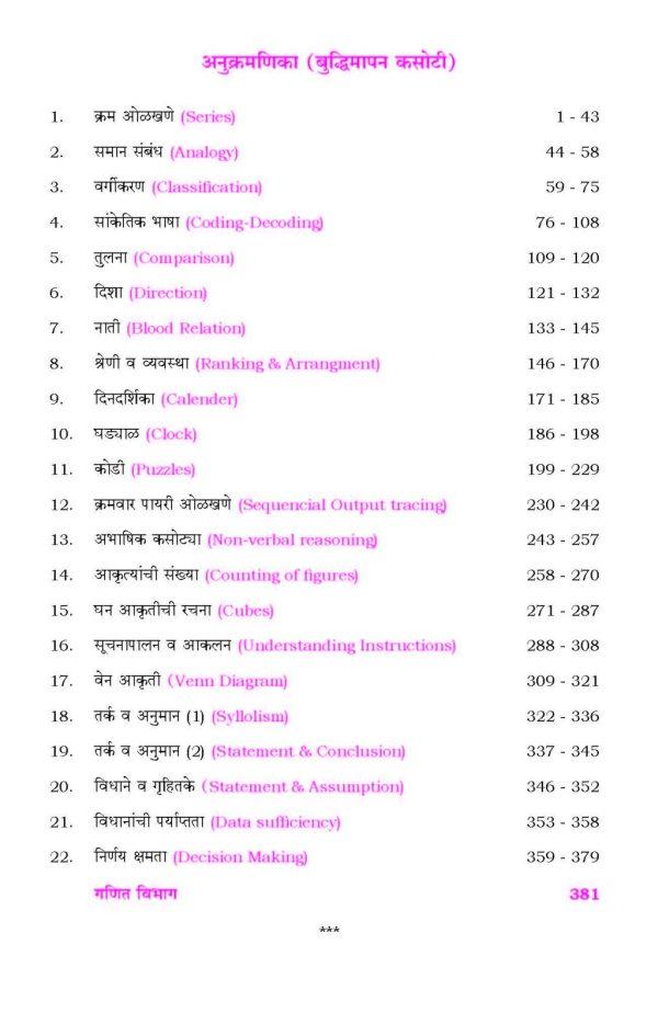 Spardha Pariksha Buddhimapan Kasoti + Ganit -388